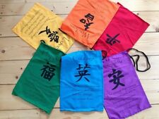 LARGE BUDDHA AFFIRMATION FLAGS, FAIR TRADE, MEDITATION, NEW AGE CHAKRA REIKI