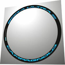CAMPAGNOLO BORA ULTRA 35 3D ALL LIGHT BLUE  REPLACEMENT RIM DECAL SET FOR 2 RIMS