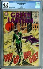 GREEN LANTERN 65 CGC 9.6 CIRCLE 8 PEDIGREE - DOCTOR POLARIS DC SILVER AGE - 1968