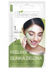 BIELENDA PROFESSIONAL FORMULA Peeling Gruboziarnisty + GLINKA ZIELONA 2 x 5g