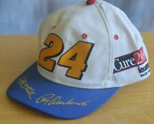 Rare Vtg JEFF GORDON RAY EVERNHAM Racing Cap Hat NASCAR IMS #24  CURE 2000