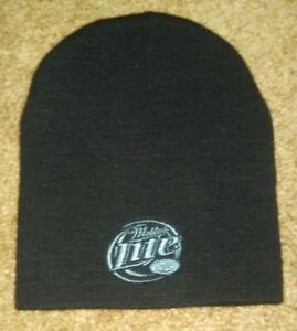 NEW Miller Lite Knit Beanie Black