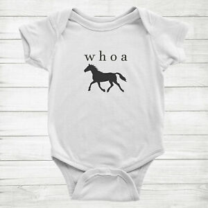 Funny Quote Saying Costume Horse Baby Infant Bodysuit Cute Horse Whoa One Piece