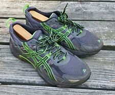 Asics Gel-Venture 5 Men's Lace-Up Gray/Green Athletic Running Shoes Size 8 4E