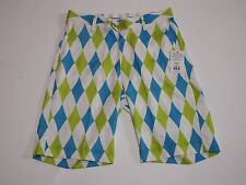 Golf Shorts Size 32 Light Royal Argyle Flow Golf
