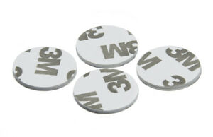 3M White - Double Sided Circle Foam 20mm dia Pad Self Adhesive Round Pads
