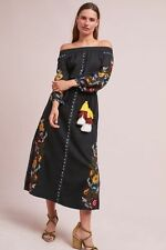 NWT Anthropologie Seine Off-The-Shoulder Dress, by MISA - Black, size S