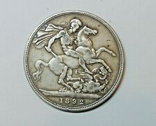 GREAT BRITAIN :  CROWN  1892.  KM 765.  VICTORIA.  0.9250 SILVER