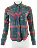 ABERCROMBIE & FITCH Womens Shirt Size 6 XS Multi Check Cotton  NR44