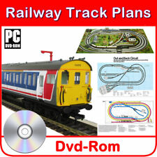 HORNBY COMPATIBLE MODEL RAILWAY TRAIN TRACK PLANS 130+ LAYOUTS 00 GAUGE SCALE