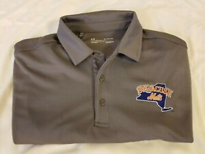 Syracuse Mets Under Armour Gray Tech Polo Shirt Men's XL New with Tags New York