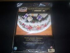 Cross Stitch Kit Dimensions Holiday Harmony Music Christmas Tree Skirt #8671 NEW