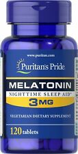 Melatonin Melatonine 3 MG 120 Tabletten Puritan's Pride