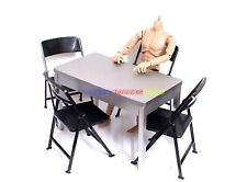 """New 1/6 Scale Furniture Table &  4 Chair For Barbie Doll & 12"""" Action Figures"""