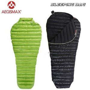 AEGISMAX 800FP Mummy Goose Down Ultralight Sleeping Bag Camping Outdoor Mini