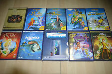 super LOT 10 DVD DISNEY : Merlin, Nemo, Clochette, Kuzco, Princesse Grenouille..