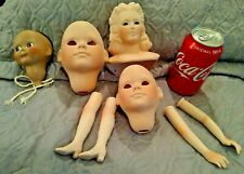 Vintage Large Lot Doll Arms,Legs,Heads Bisque Parts Restore Doll Repair