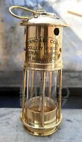 Antique Maritime Ship Lantern ~ Brass Mini Oil Lamp ~ Boat Light Vintage Gift