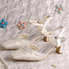 Strappy/Ankle Straps Low Heel (0.5-1.5 in.) Bridal Shoes