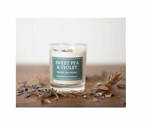 Classic Sweet Pea and Violet Elegant Scented Votive Candle In A Glass Holder