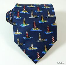 Lighthouse Silk Tie Nautical Necktie