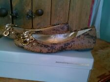 Jessica Simpson Rustic Brown Cobra Stamped Snake Size 6