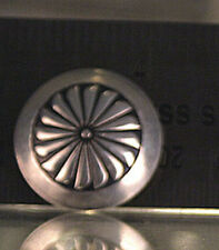 North American Sterling Silver Medium Round Button Cover