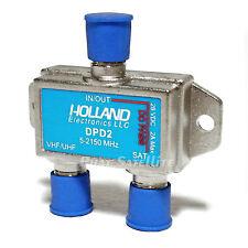 Holland SATELLITE Diplexer 5-2150Mhz DPD2 VHF/UHF splitter DISH NETWORK APPROVED