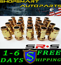 SRS 12X1.5 GOLD STEEL TUNER LUG NUT SET 20 FOR HONDA