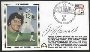 Joe Namath Autographed Hall Of Fame Gateway Stamp Cachet Envelope HOF