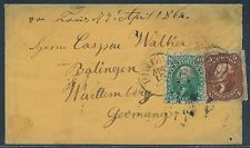 #68, #75 ON COVER TO GERMANY CV $885 BR5217