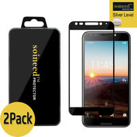 [2-Pack] SOINEED Full Cover Tempered Glass Screen Protector For T-Mobile Revvl