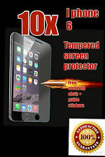 i phone 6, 6s tempered glass (4.7 inch) + screen cloth + guide stickers... x10..