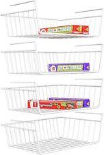 4Pack Under Shelf Table Storage Basket Rack Kitchen Wire Mesh Cabinet Organizer