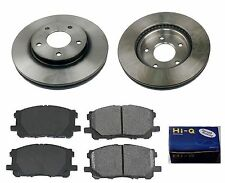 Front Ceramic Brake Pad Set & Rotor Kit for 2004-2005 Mitsubishi Lancer RALLIART