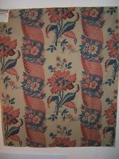 "Brunschwig & Fils ""Columnata Cotton Print"" vintage floral stripe design clr tea"