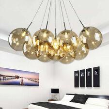 LED Chandelier smoke/cognac Glass Light Living Room Bedroom Hallway Ceiling Lamp