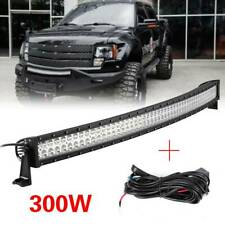 52 INCH 300W Car FLOOD SPOT COMBO CURVED LED LIGHT BAR DRIVING OFFROAD LAMP SUV