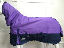 !!SALE!! AXIOM 600D RIPSTOP LAVENDER/NAVY 300g PADDOCK HORSE COMBO RUG - 6' 9