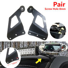 2pc SUV Off-road Vehicle Roof LED Light Strip Car Top Bar Mounting Bracket Black