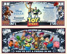 TOY  STORY . Disney P. Million Dollar USA . Billet de commémoration / Collection