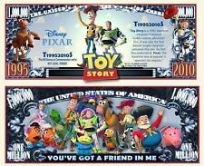 TOY  STORY . Disney P. Million Dollar USA . Billet de commémoration / Collection