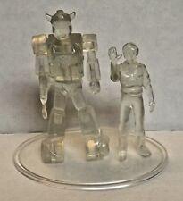 """RARE! VHTF! 2001 Takara Transformers SCF (clear) """"BUMBLEBEE & SPIKE"""" 3"""" figure"""