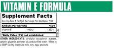 Universal Nutrition Vitamin E Formula 400 IU 100 Softgels