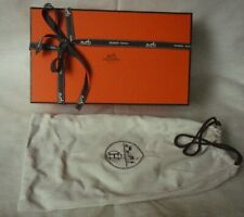 Hermes shoe box and dust bag with ribbon empty