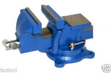 "5"" Bench Vise with Anvil Swivel Locking Base Table top Clamp Heavy Duty Steel"