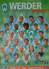 Programm Sonderheft 2006/07 SV Werder Bremen