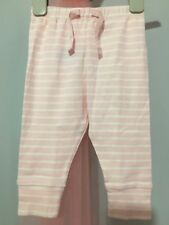 New Without Tags Baby Girls Gap Pink Striped Lounge Bottoms 6-12m🎀