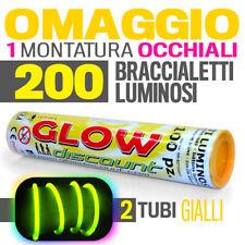200 BRACCIALETTI LUMINOSI GIALLI bracciali starlight fluo disco dj party   30173