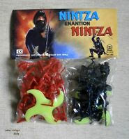 NINJA VS NINJA MOSC MADE IN GREECE PETALO TOY SOLDIERS ACTION FIGURES VTG GREEK